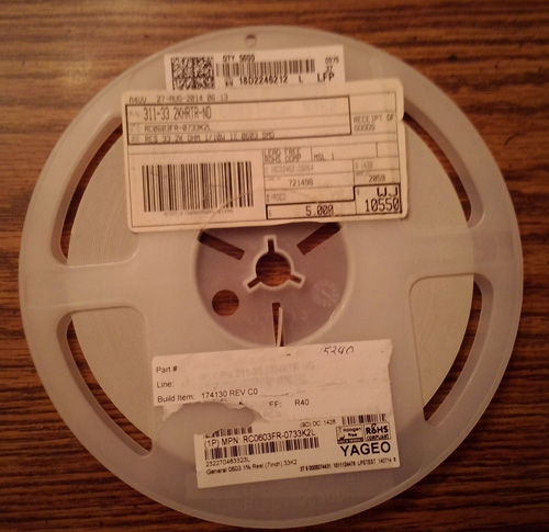 Partial Reel of Yageo RC0603FR-0733K2L :: FREE Shipping
