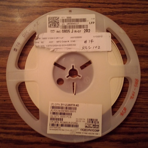 Partial Reel of Yageo RC0805JR-072R2L :: FREE Shipping