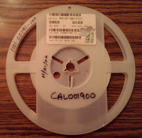 Partial Reel of Cal-Chip RM12F1691CTLF :: FREE Shipping