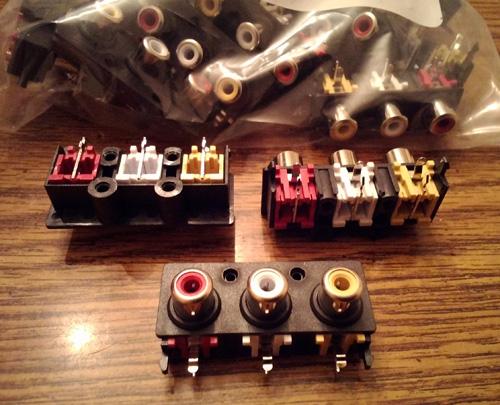 Lots of 25: CUI Inc. RCJ-32234 RCA Connectors