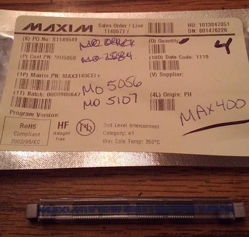 Lot of 4: Maxim MAX3140CEI+