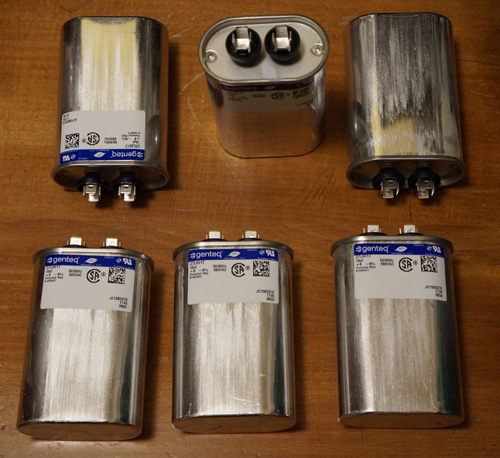 Lots of 6: Genteq 27L6017 Capacitors