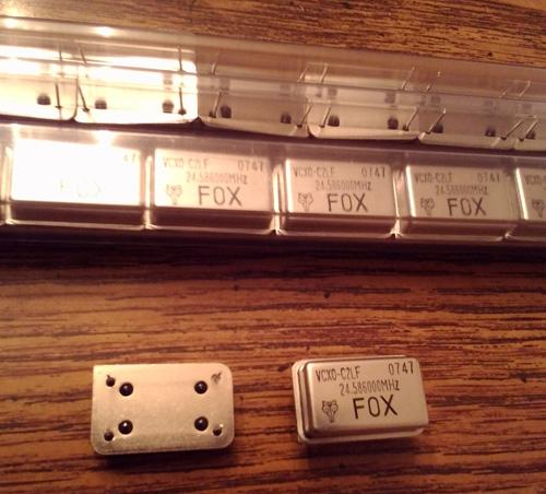 Lots of 50: Fox 458LF-24.586-1 VCXO Oscillators