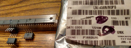 Lot of 18: National Semiconductor LM1458N