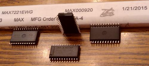 Lot of 4: Maxim MAX7221EWG