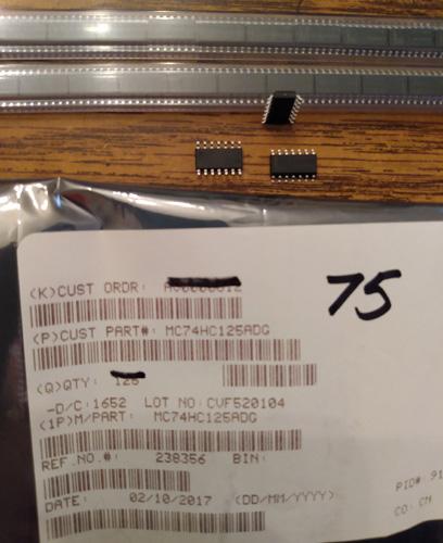 Lot of 75: ON Semiconductor MC74HC125ADG