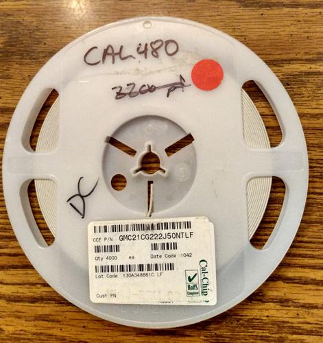 Lot of 3000 ?: Cal-Chip GMC21CG222J50NTLF