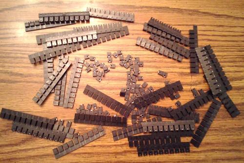 Lot of 476: Keltron MJ-5.97-G-F-1 Mini-Jumper Shunts