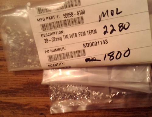 Lot of 1800 ?: Molex 50058-8100