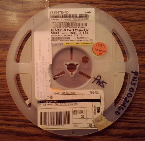 Lot of 4800 ?: Panasonic EXB38V154JV Resistors