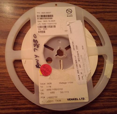Lot of 3160 ?: Venkel CR0805-10W-5600T Resistors