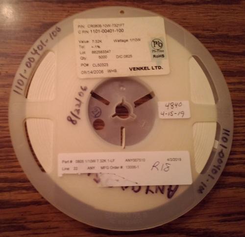 Lot of 4840 ?: Venkel CR0805-10W-7321FT Resistors