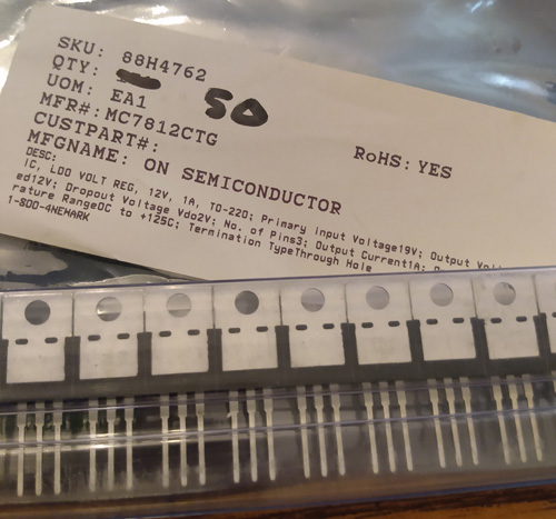 Lots of 50: ON Semiconductor MC7812CT