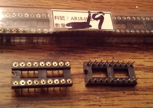Lot of 19: Assmann AR18-HZL-TT :: 18 POS IC DIP SOCKET