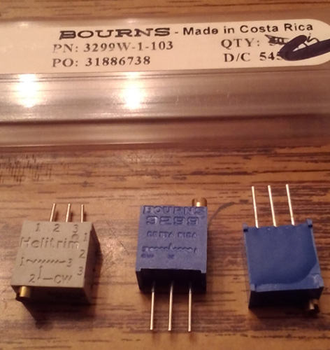 Lot of 11: Bourns 3299W-1-103