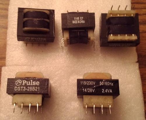 Lots of 5: Pulse Electronics DST3-28B21 Laminated 2.4VA Thru Hole