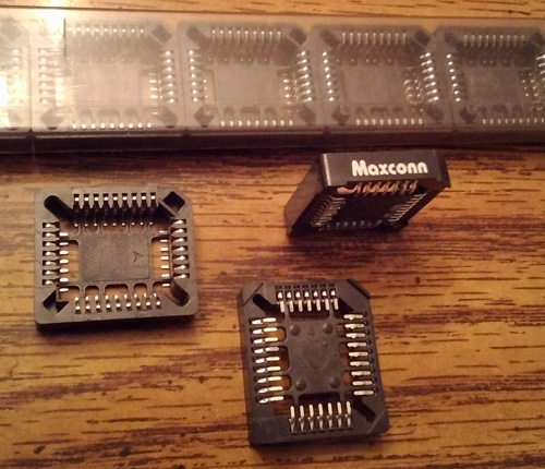 Lots of 24: Maxconn MSMPLCC-32TX PLCC Sockets