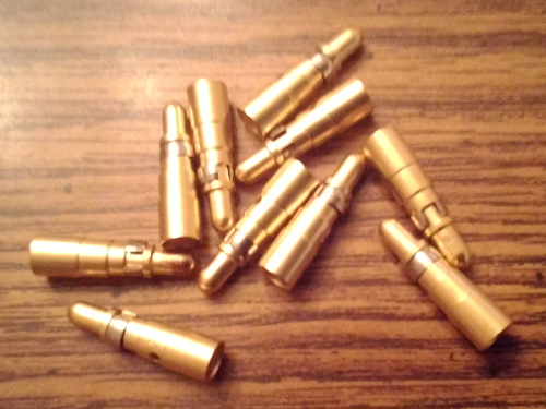 Lots of 10: Tyco 211159-1 CONN PIN 8 AWG CRIMP GOLD