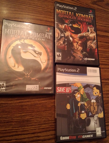 Lot of 3 PS2 games: 2 Mortal Combat & True Crime
