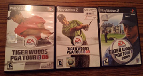 Lot of 3: Tiger Woods PS2 games