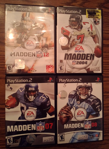 Lot of 4: MADDEN PS2 games