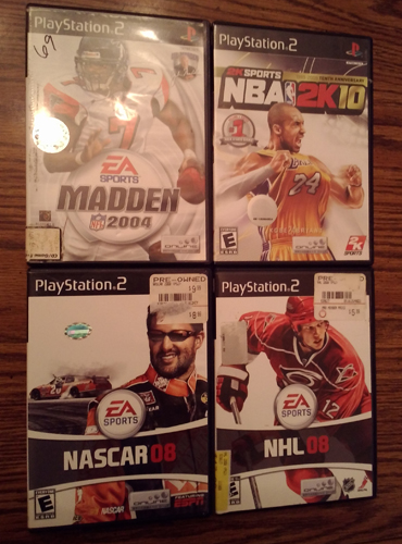 Lot of 4: PS2 Sports games