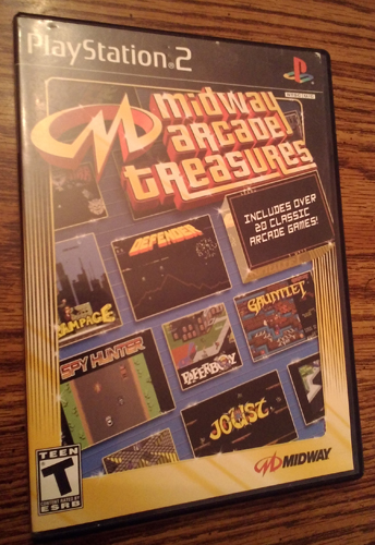 MIDWAY ARCADE TREASURES PS2 game: Over 20 Classic Arcade Games