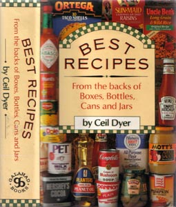 BEST RECIPES From the backs of Boxes, Bottles, Cans and Jars :: 1989 HB w/ DJ  Pic 1