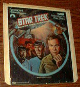 Star Trek Balance of Terror/Mirror, Mirror CED Selectavision Videodisc Pic 1